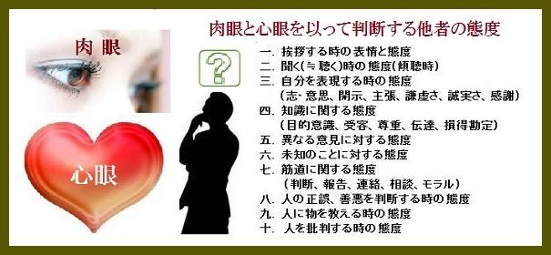 肉眼と心眼態度10要素