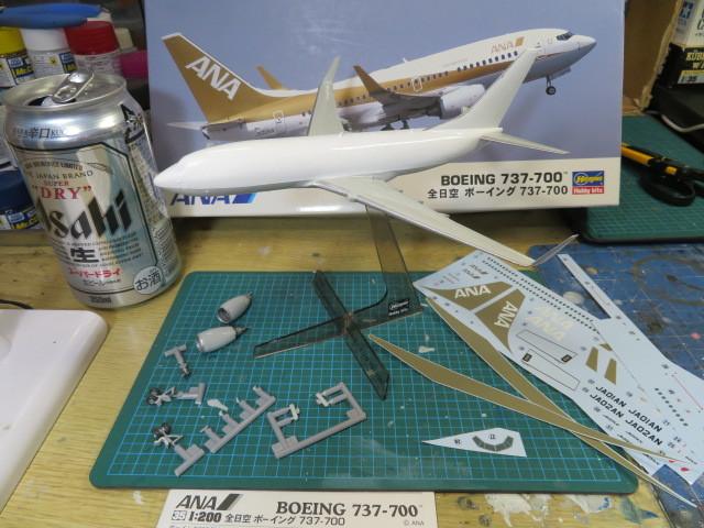 ANA B737-700 基本塗装終了