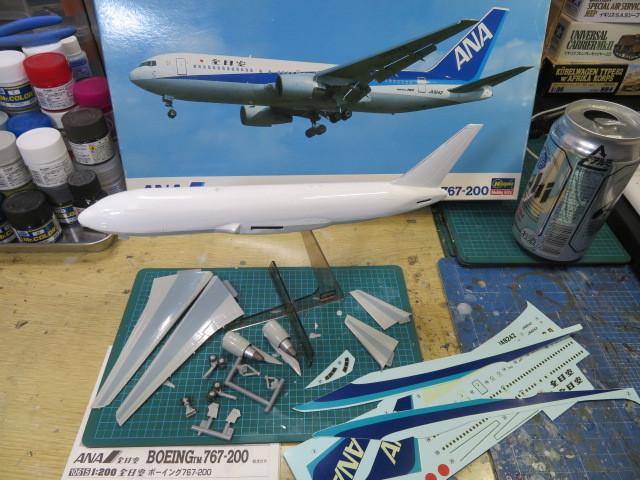 ANA B767-200 基本塗装終了・・・