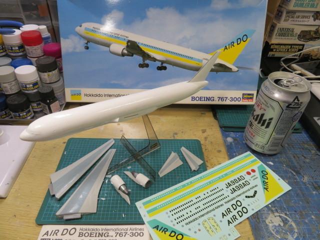 AIR DO B767-300 基本塗装終了・・・
