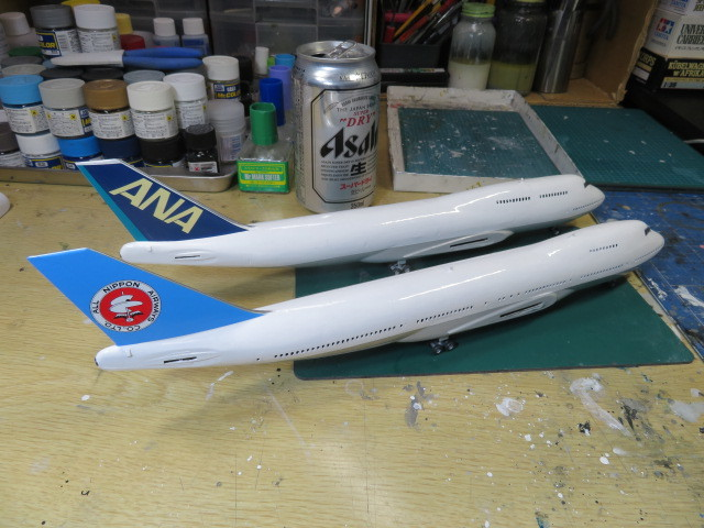 ANA B747 進行・・・