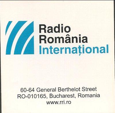 2019年12月14日 ロシア語放送受信  Radio Romania International(ルーマニア)