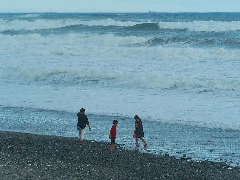 初秋の海辺