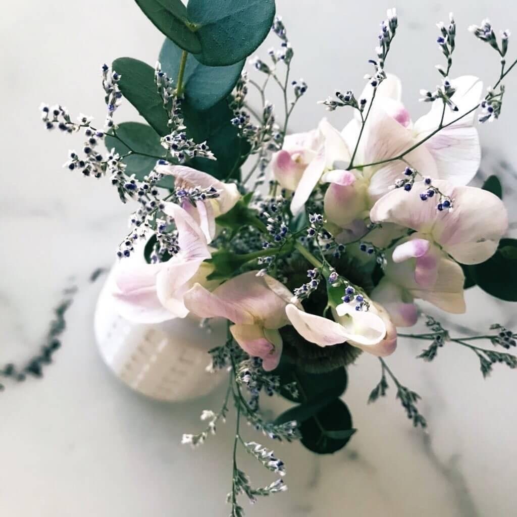 Relakuhealと青山フラワーマーケットのお花