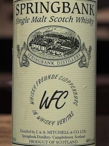 SPRINGBANK Whisky Freunde Cloppenburg 1997_LL600