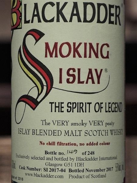 BLACKADDER SMOKING ISLAY Bottle no149_LL600