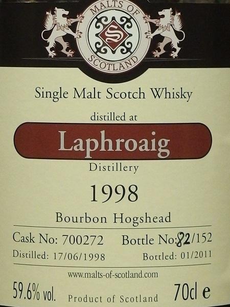 Malts Of Scotland LAPHROAIG 1998_LL600