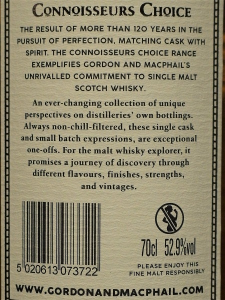 GM Connoisseurs Choice For JIS PULTENEY 1999_ura600