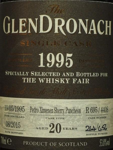 GLENDRONACH 1995 20yo For LIMBURG Whisky Fair_LL600
