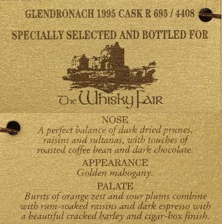 GLENDRONACH 1995 20yo For LIMBURG Whisky Fair_tug450