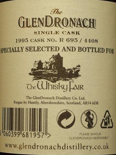 GLENDRONACH 1995 20yo For LIMBURG Whisky Fair_ura600