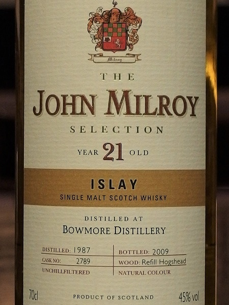 John Milroy Selection BOWMORE 1987-2009 21y_LL600