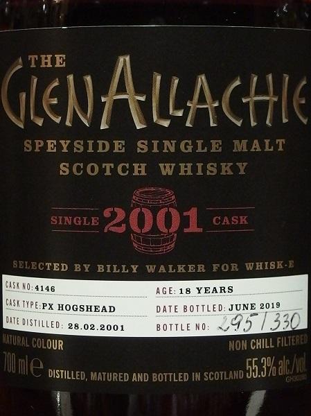 GLENALLACHIE 2001 18yo PX Sherry Hogshead_LL600