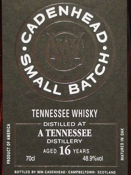 Cadenhead Small Batch A TENNESSEE 16yo_LL600
