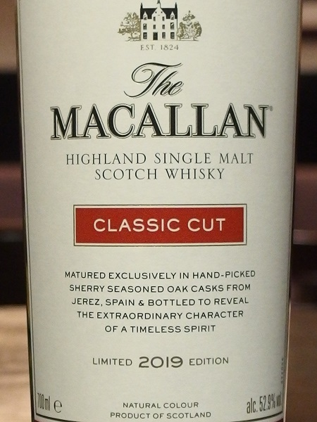 MACALLAN CLASSIC CUT 2019_LL600