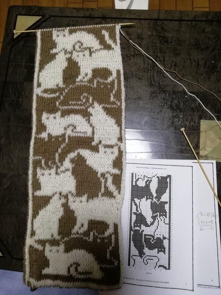 編み図は絵が書いてあるだけ。