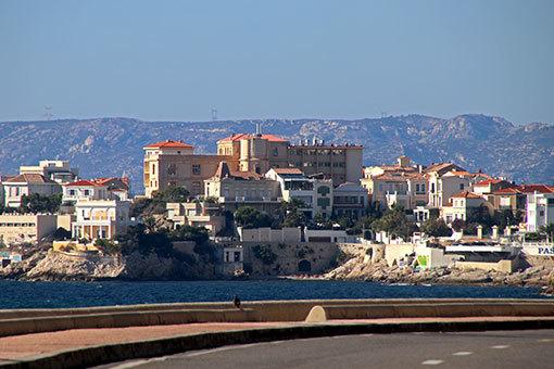 マルセイユ 海岸通り 通りと建物