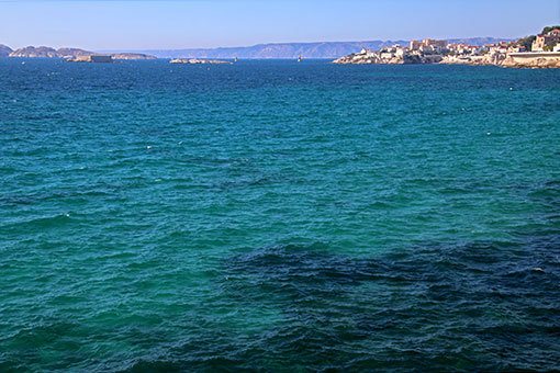 マルセイユ海岸道路 コバルトブルーの海