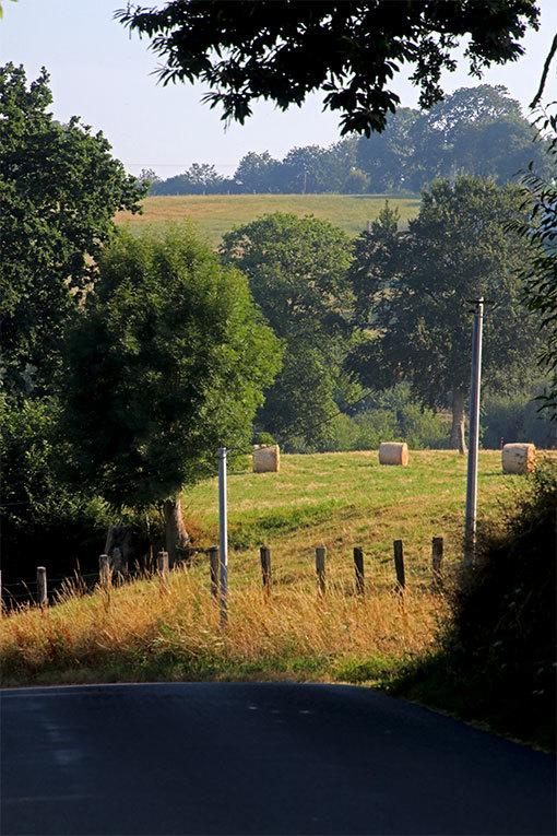 リュセルヌ・ドゥトゥルメール修道院への道 牧歌的な丘