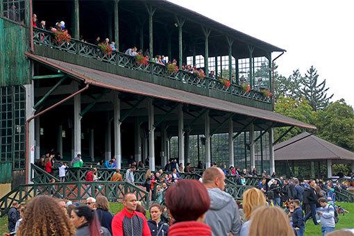 ヴロツワフ パルティニッツェ競馬場のの瀟洒な雰囲気のスタンド