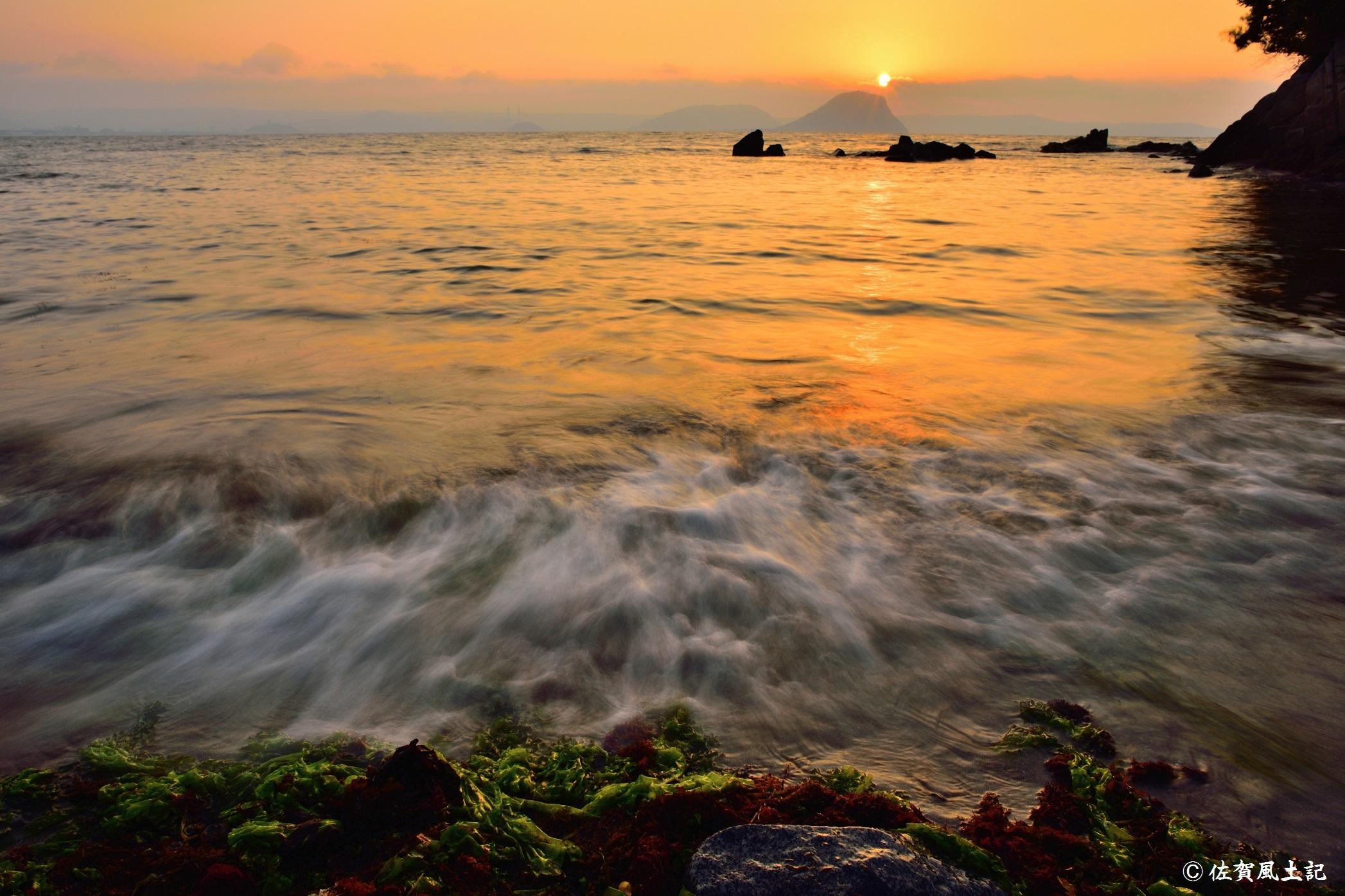 高島の夕景