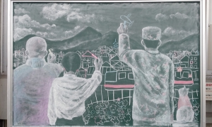 善通寺黒板アート27