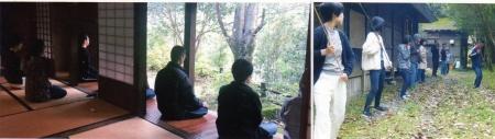 4,瞑想・棒術訓練