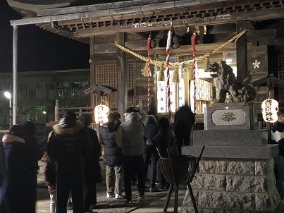 菅原神社深夜の初詣