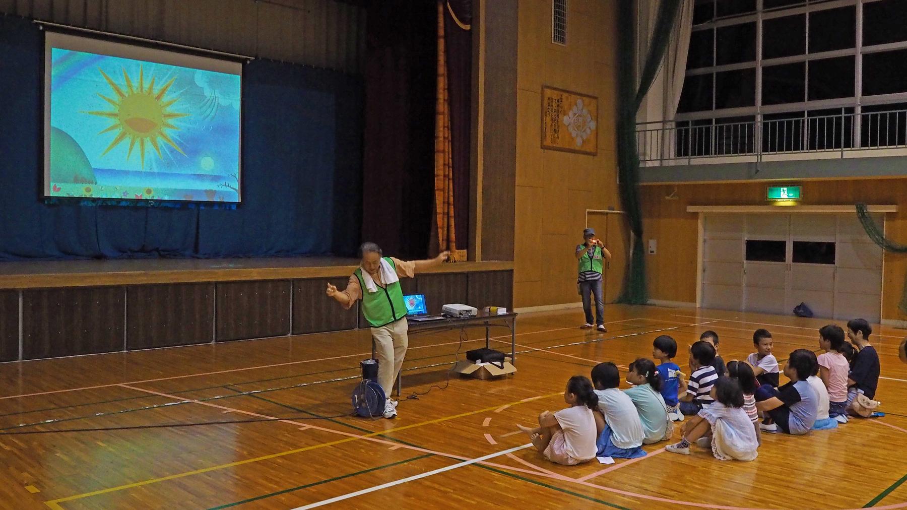福島の災害地で製作された星空童話の上映