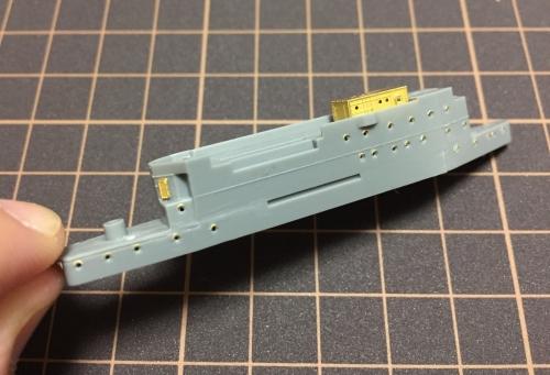 航空母艦 「信濃」 艦橋製作中IMG_3370◆模型製作工房 聖蹟