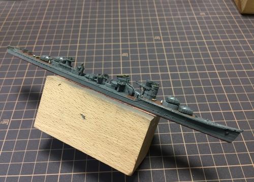 防空駆逐艦 秋月 製作 構造物設置中 ELvwc1gUUAYpu3y◆模型製作工房 聖蹟