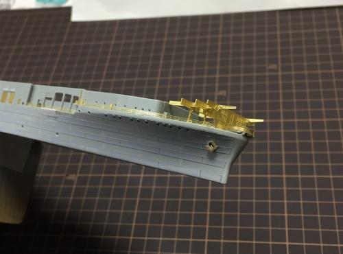 米航空母艦 バンカーヒル 製作中 錨設置(Bunker Hill)IMG_99876◆模型製作工房 聖蹟