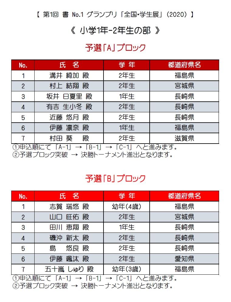 1-2年生・予選ブロック・A-B