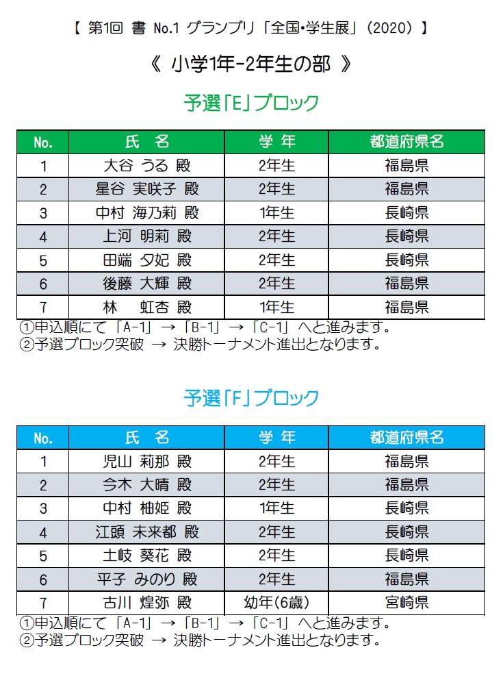 1-2年生・予選ブロック・E-F