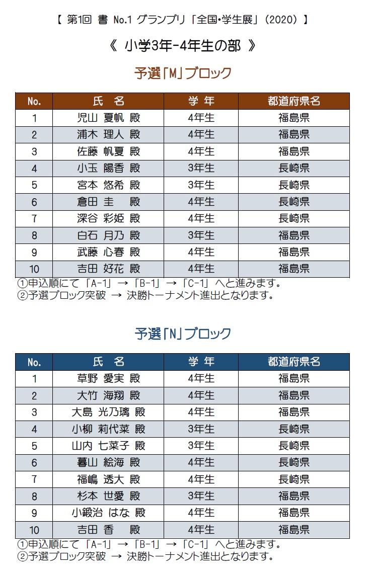 3-4年生・予選m-n