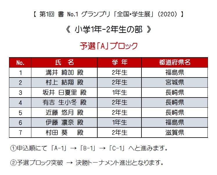 1-2年生・予選-A-エントリー