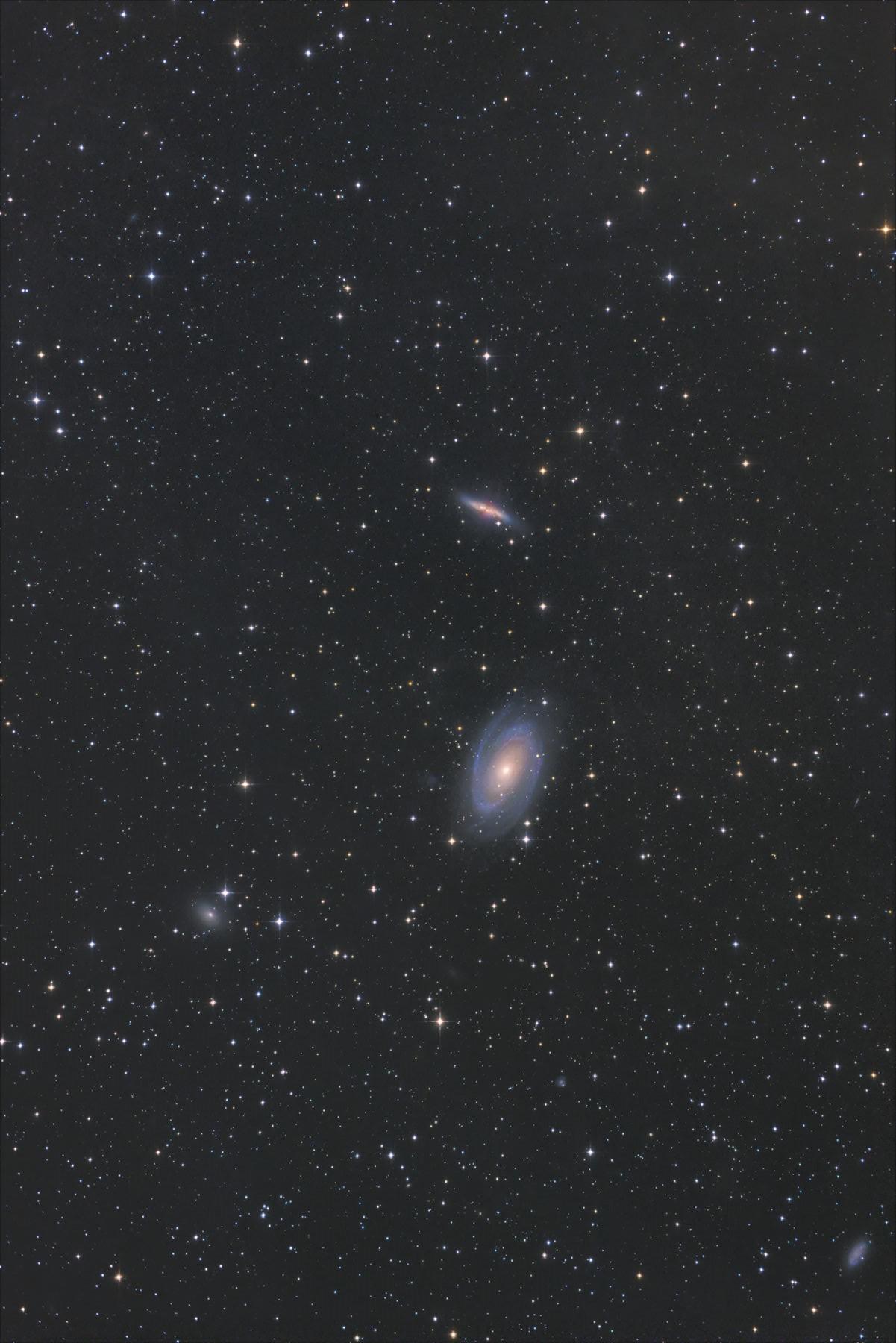 【銀河】M81&M82 ボーデ銀河と葉巻銀河