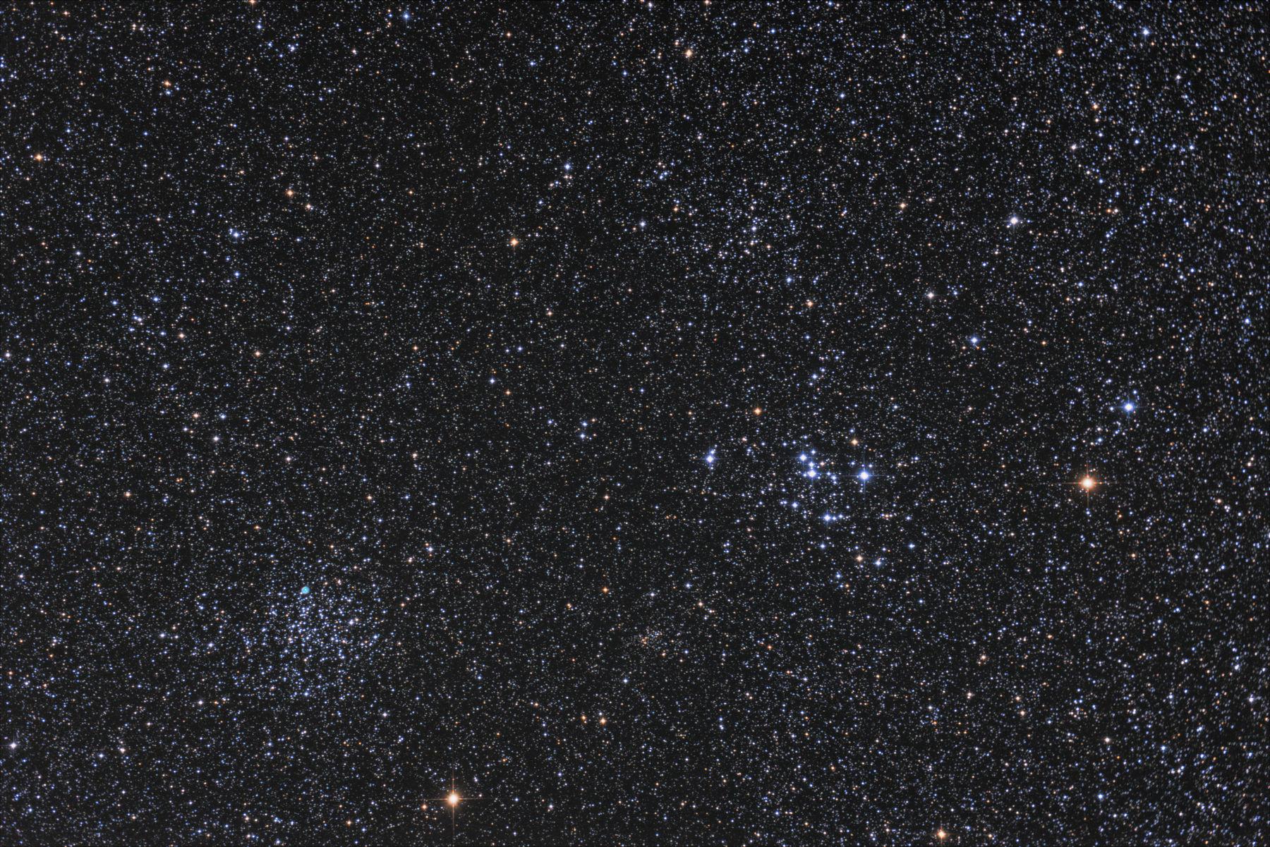【星団】M46, M47 と隠れ惑星状星雲NGC2438