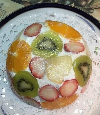 ドーム型ケーキ1