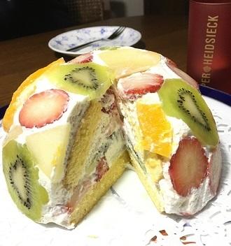 ドーム型ケーキ3