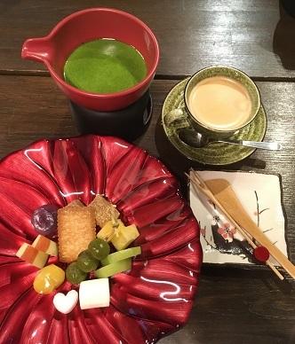抹茶フォンデュ1