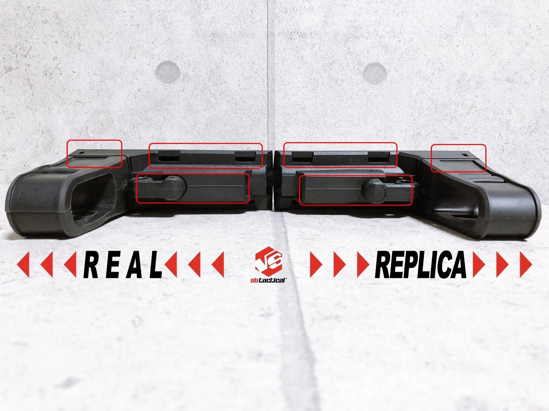 15 SB TACTICAL SBA3 『実物 vs レプ』 話題のSBA3 レプと実物の違いを徹底検証!! 購入 開封 比較 検証 レビュー!! したるの巻!! ストック プレース レプリカ タイプ