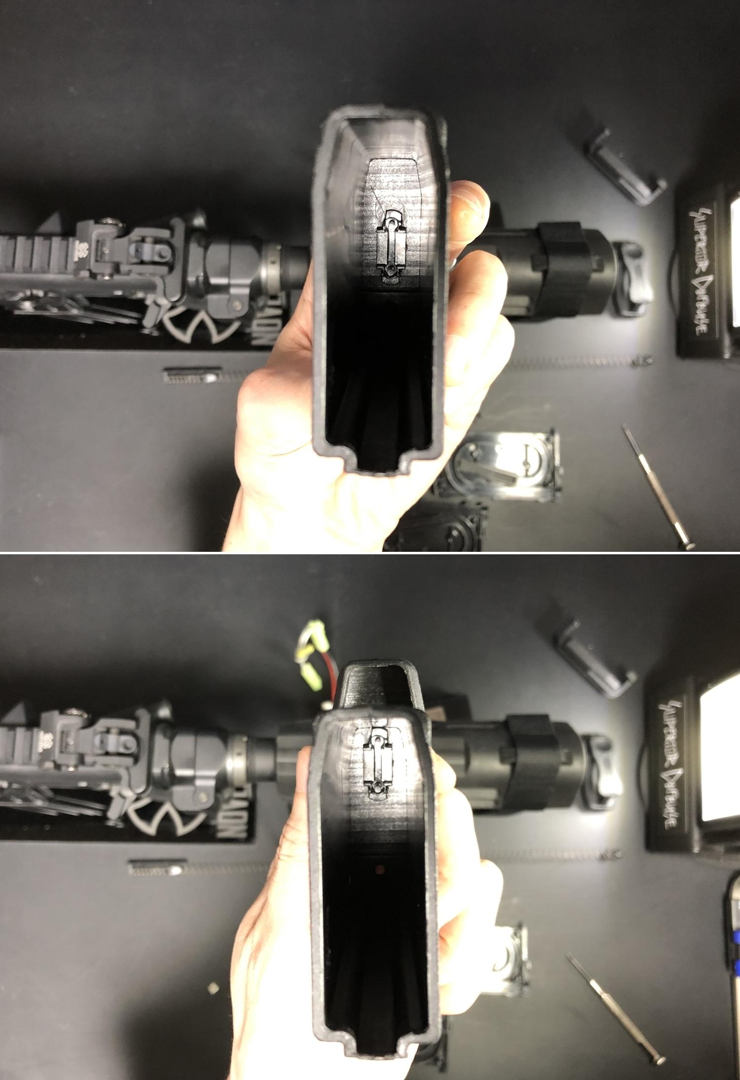 7 M4 P-MAG 20 ショートマガジン DIY 改造 外付け計画 第2弾 リポ バッテリーケース!! 実物 SB TACTICAL SBM4 SB-MAG20 へ装着だ!! 購入 改造 DIY 取付 レビュー!!