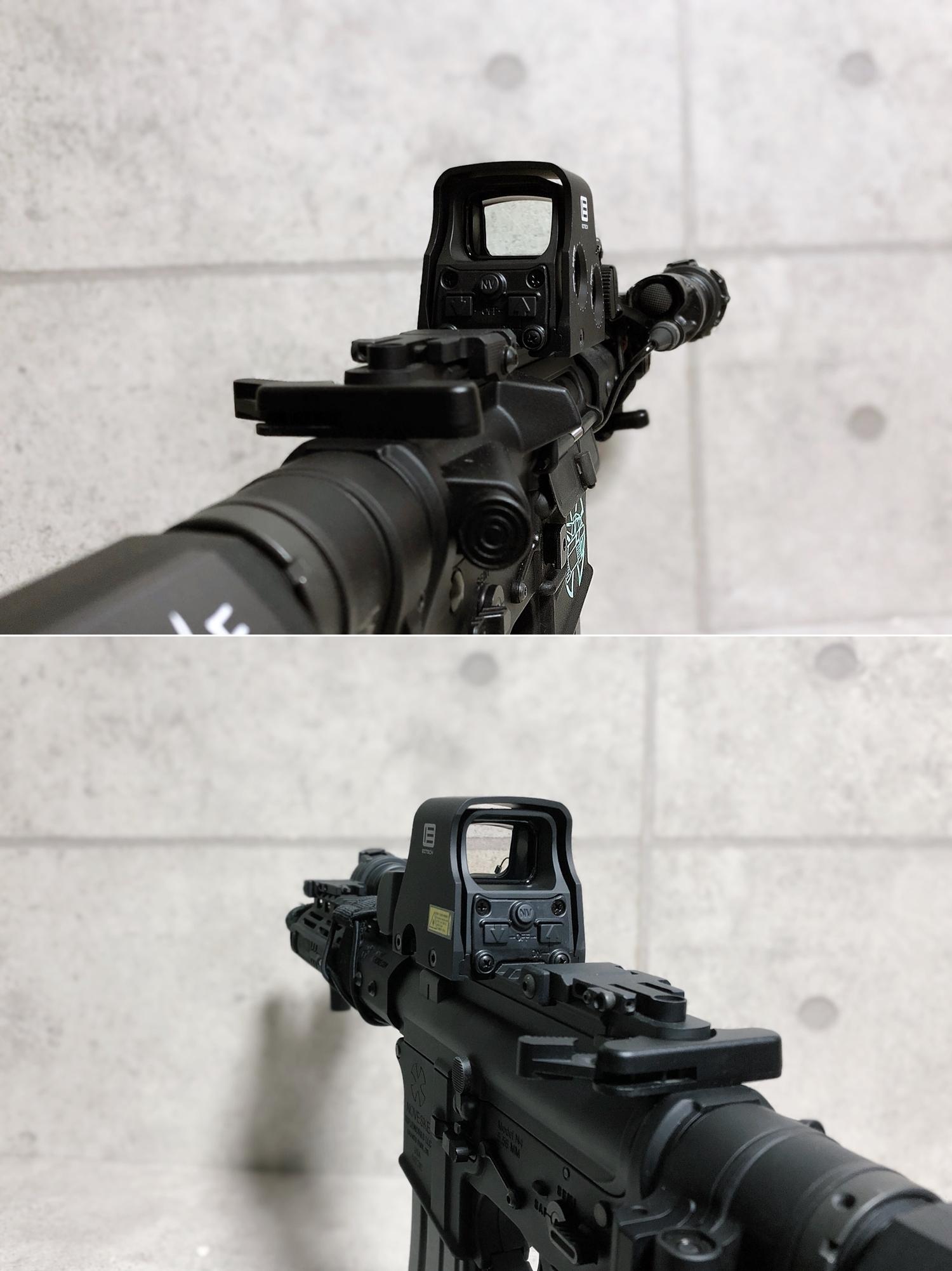 18 実物 EOTech XPS3-0 HOLOGRAPHIC SIGHT BLACK GET!! 次世代 M4 CQB-R カスタム 続編!! イオテック ホロサイト 購入 取付 レビュー!!