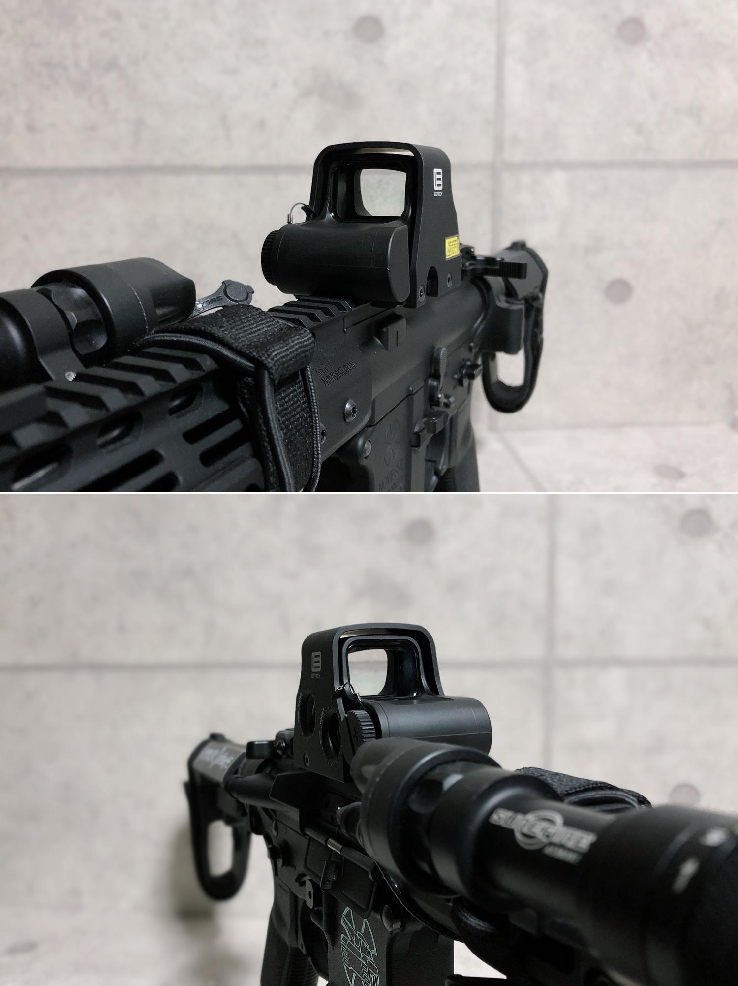 19 実物 EOTech XPS3-0 HOLOGRAPHIC SIGHT BLACK GET!! 次世代 M4 CQB-R カスタム 続編!! イオテック ホロサイト 購入 取付 レビュー!!
