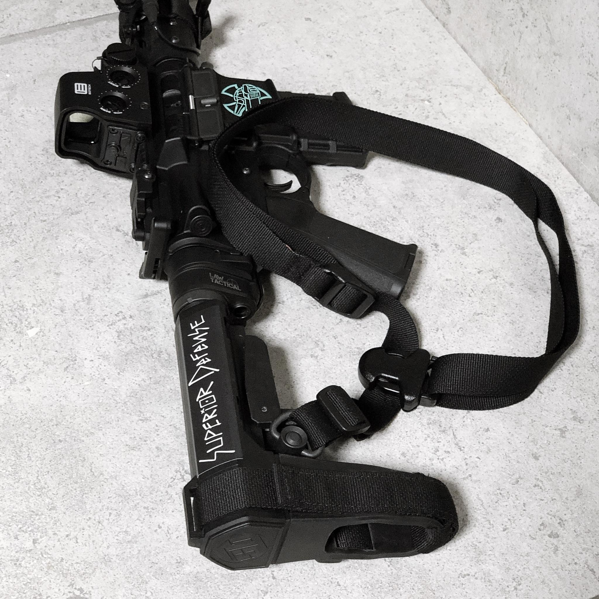 10 実物 LUNAR CONCEPTS BASELINE SINGLE POINT SLING & Impact Weapons Components SLING MOUNT QD D-RING!! シングルポイントスリング!!