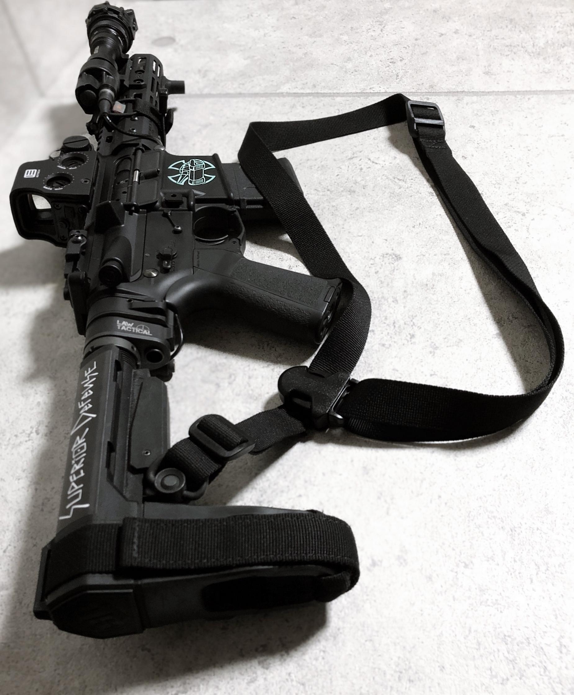 11 実物 LUNAR CONCEPTS BASELINE SINGLE POINT SLING & Impact Weapons Components SLING MOUNT QD D-RING!! シングルポイントスリング!!