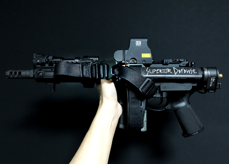 16 実物 LUNAR CONCEPTS BASELINE SINGLE POINT SLING & Impact Weapons Components SLING MOUNT QD D-RING!! シングルポイントスリング!!