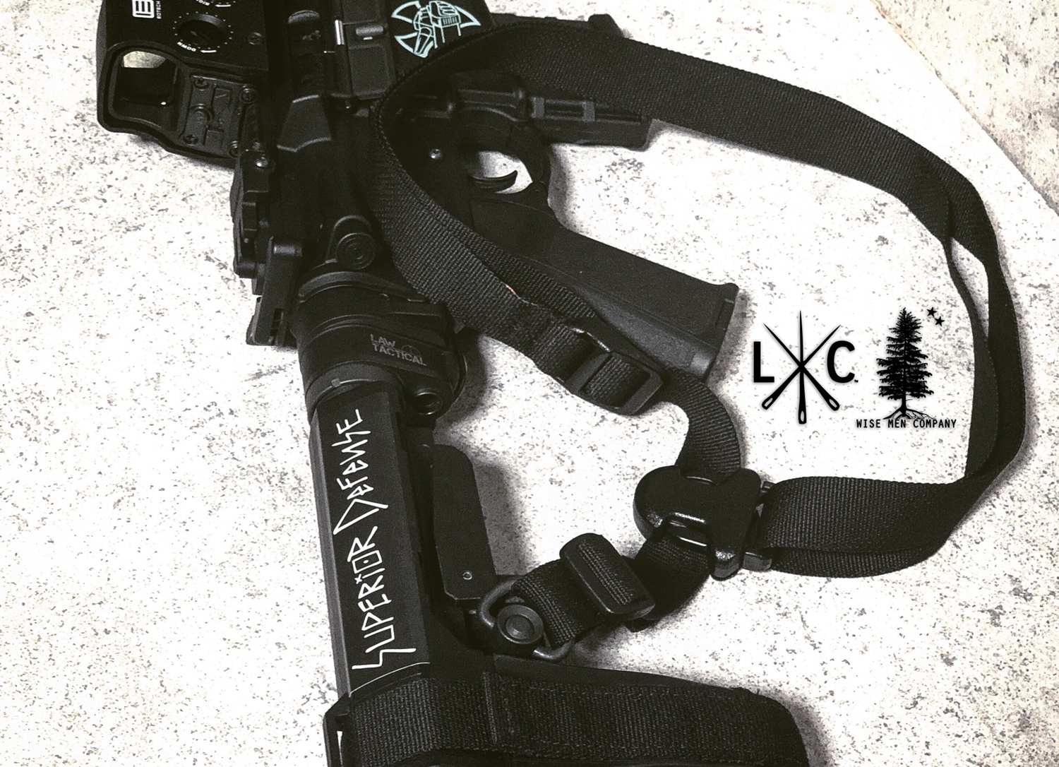 TOP 実物 LUNAR CONCEPTS BASELINE SINGLE POINT SLING & Impact Weapons Components SLING MOUNT QD D-RING!! シングルポイントスリング!!