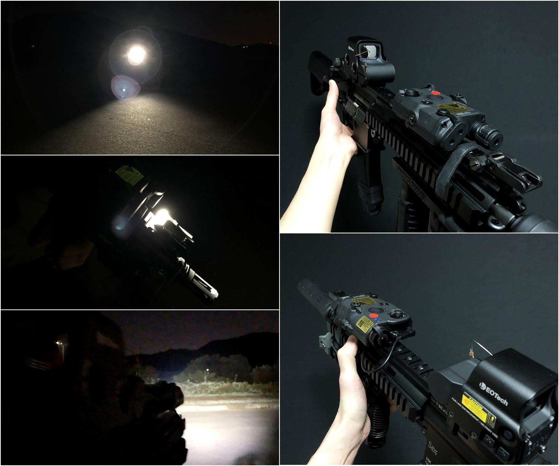 1  FMA 新型 AN PEQ-15 LA5 ATPIAL!! LED & REDLASER & IR タイプ!! HILOGサバゲー仲間の『ロッテリア長尾』へ前倒しの半強制的な誕生日プレゼント!!